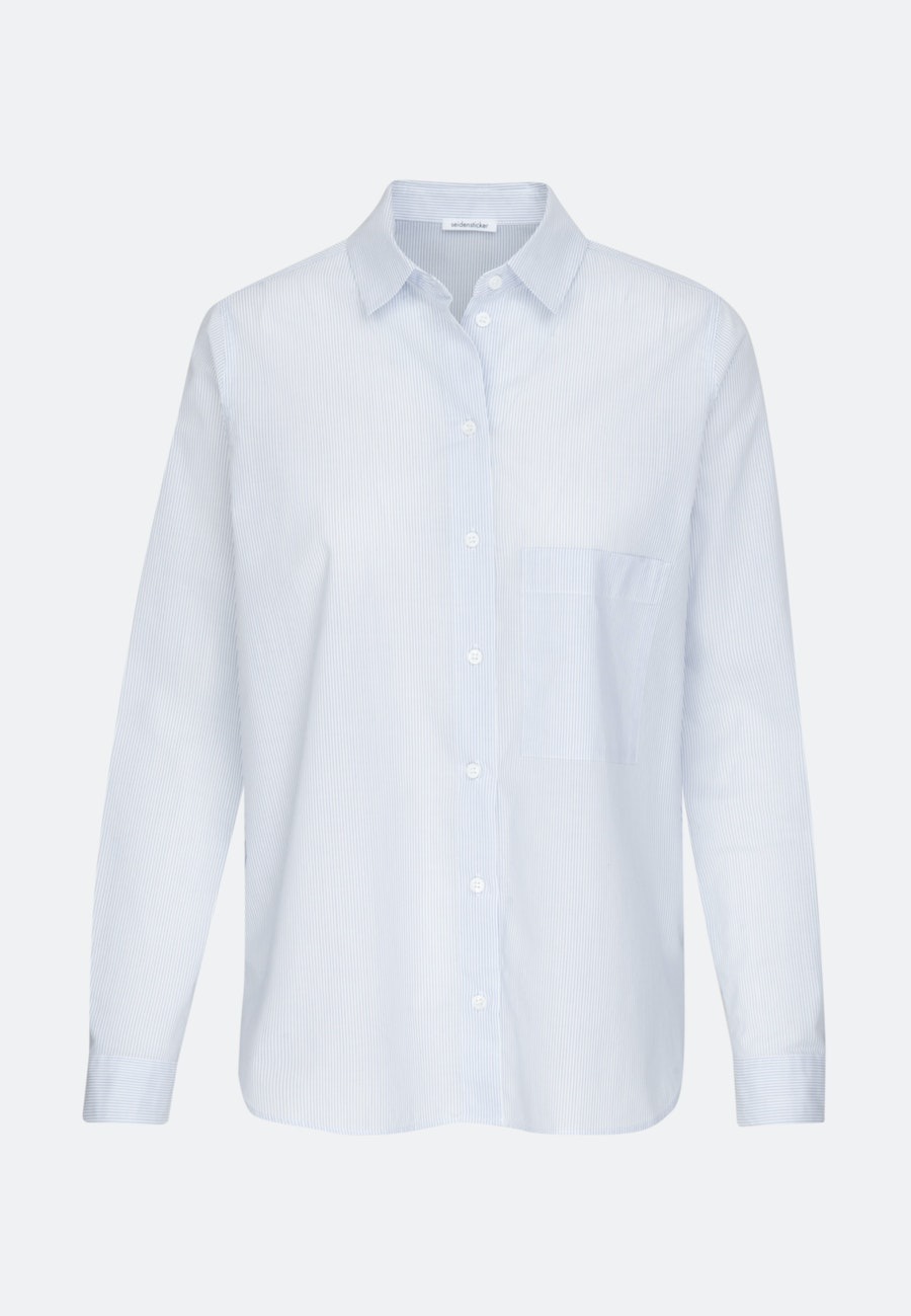 Voile Hemdbluse aus 100% Baumwolle in Hellblau |  Seidensticker Onlineshop