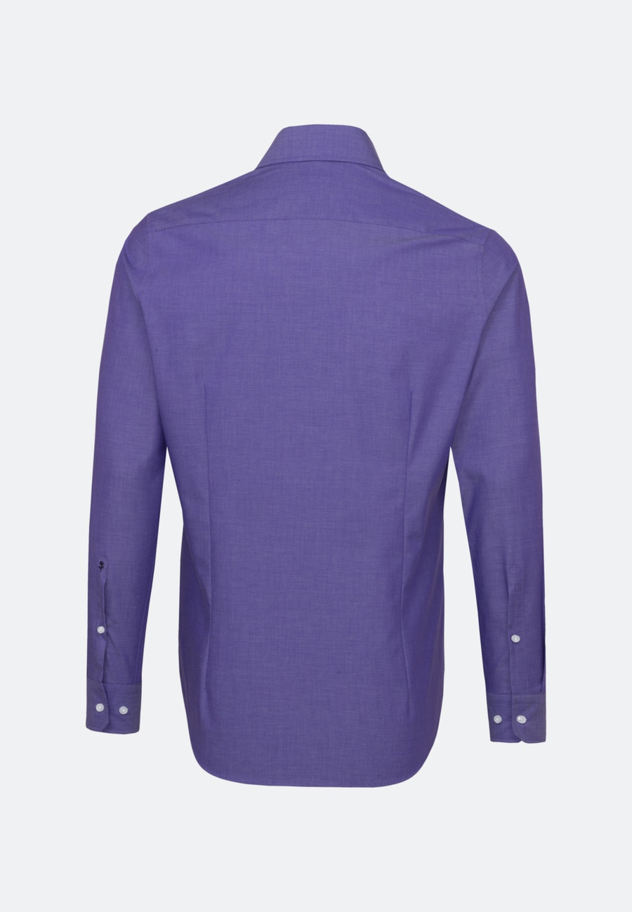 Non-iron Fil a fil Business Shirt in Shaped with Kent-Collar in Purple |  Seidensticker Onlineshop
