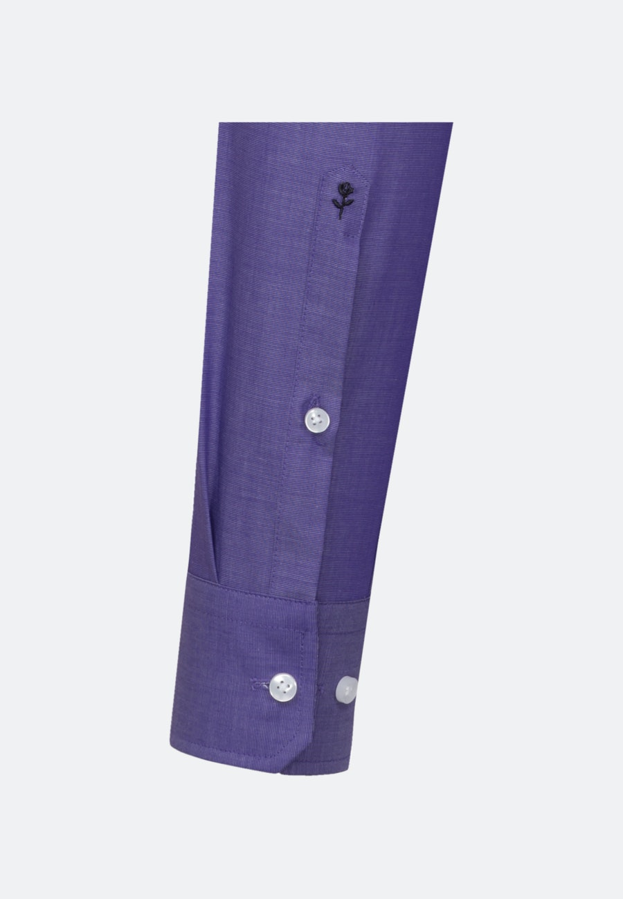 Bügelfreies Fil a fil Business Hemd in Shaped mit Kentkragen in Lila    Seidensticker Onlineshop