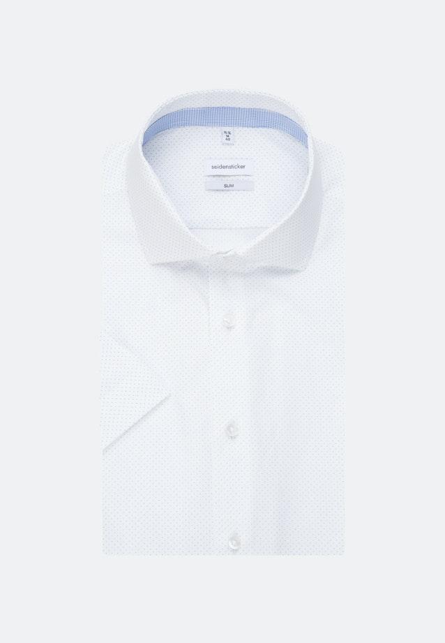 Easy-iron Popeline Short sleeve Business Shirt in Slim with Kent-Collar in White |  Seidensticker Onlineshop