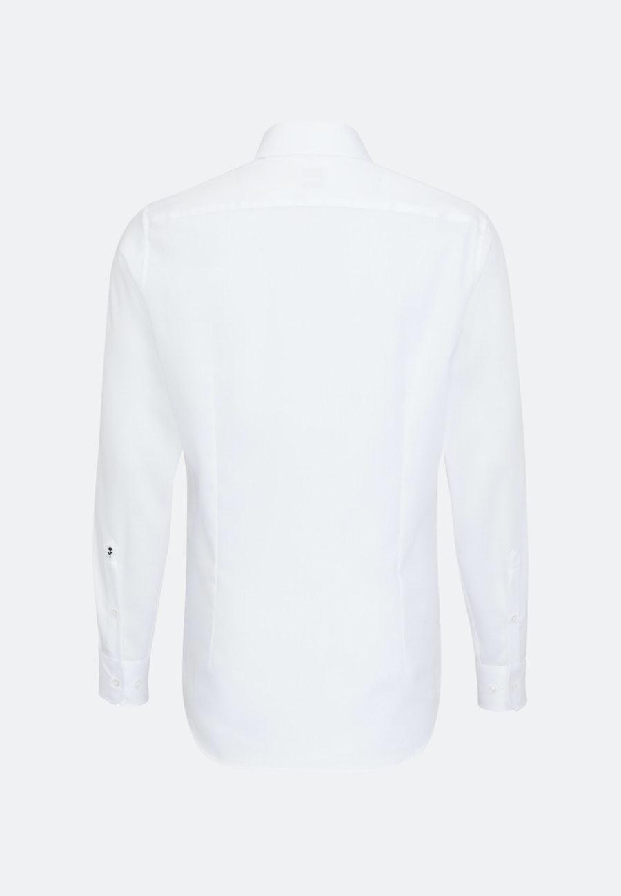 Bügelleichtes Cotele Business Hemd in Slim mit Kentkragen in Weiß    Seidensticker Onlineshop