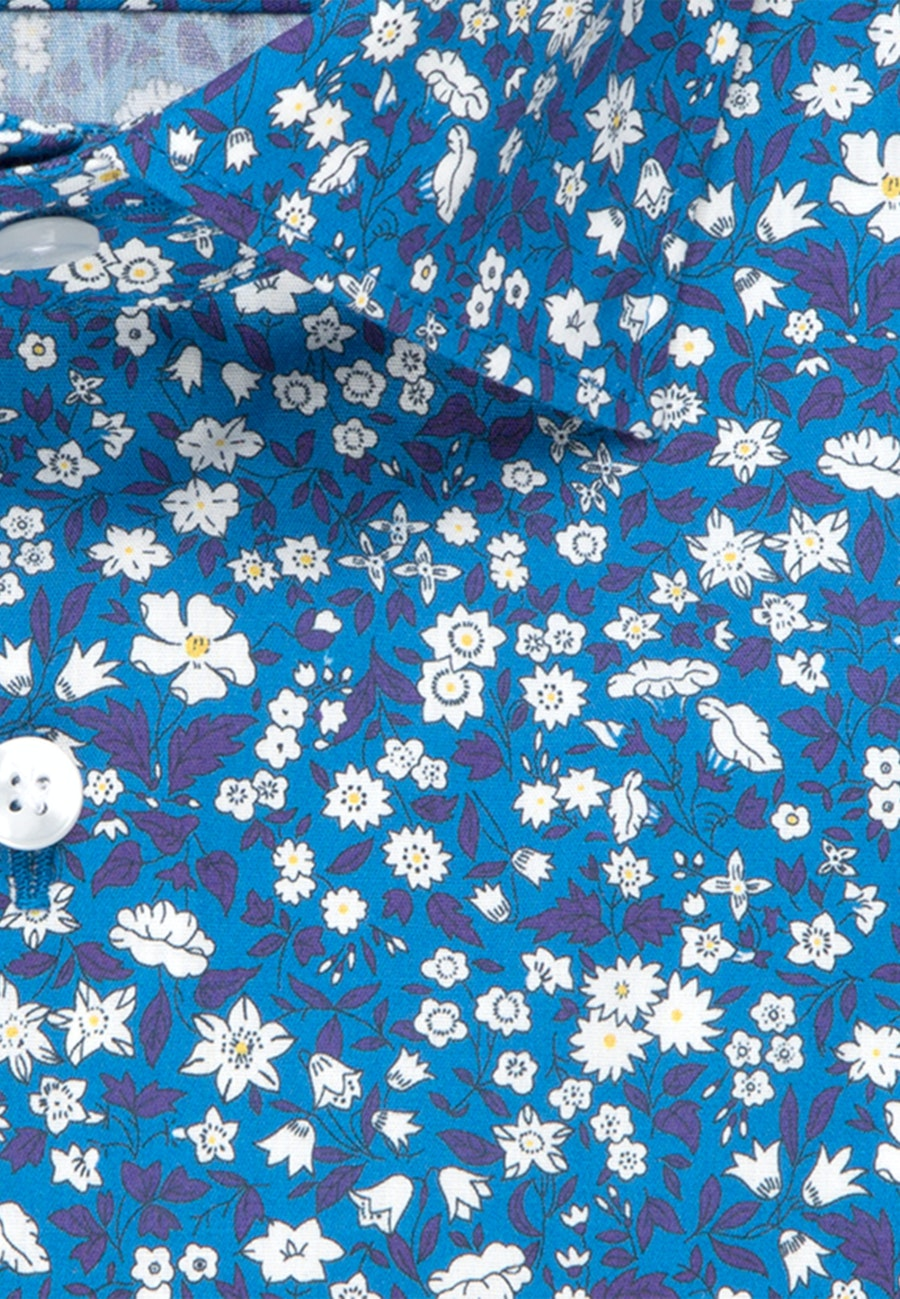 Easy-iron Popeline Business Shirt in Shaped with Kent-Collar in Turquoise    Seidensticker Onlineshop