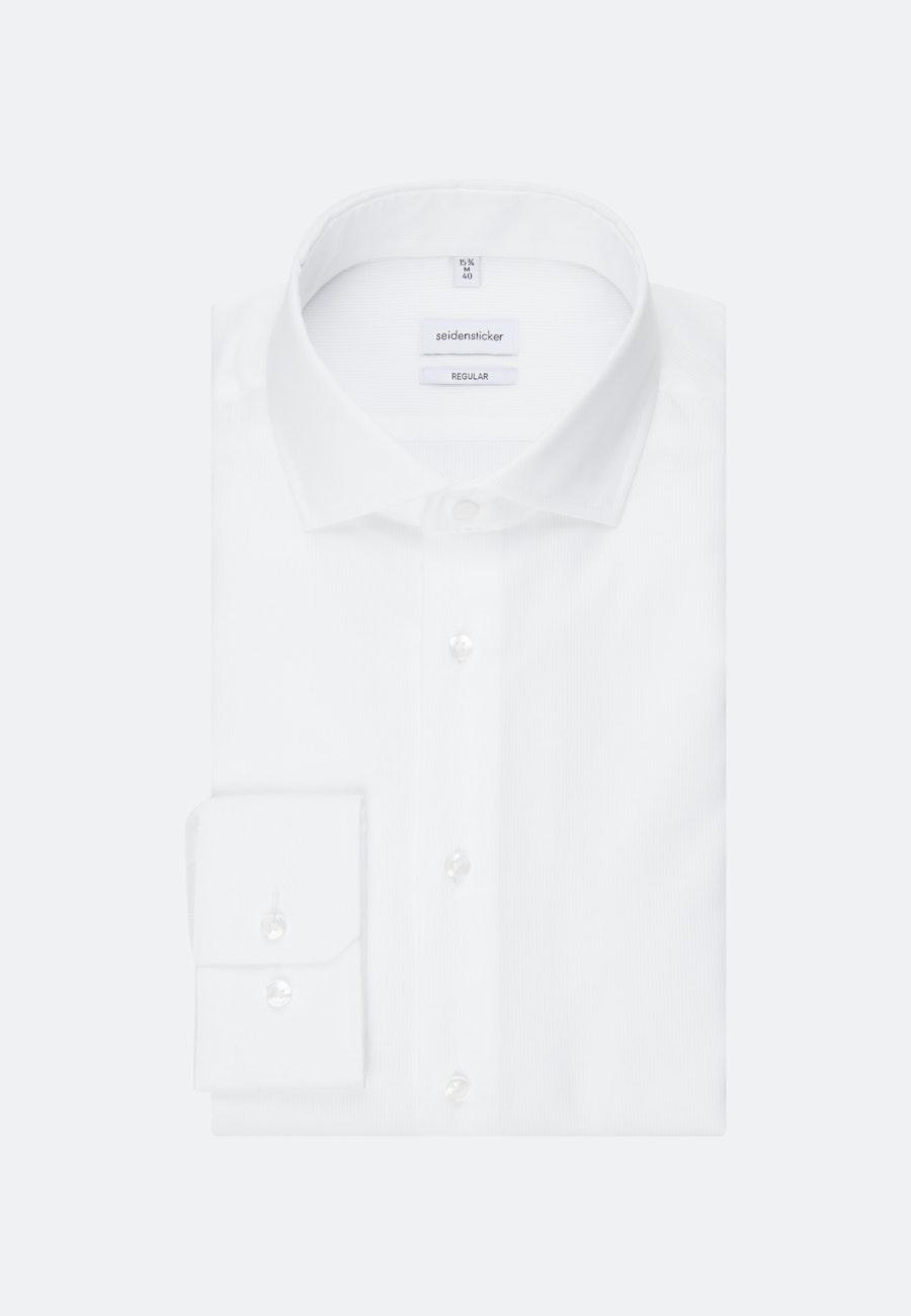 Bügelleichtes Cotele Business Hemd in Regular mit Kentkragen in Weiß    Seidensticker Onlineshop