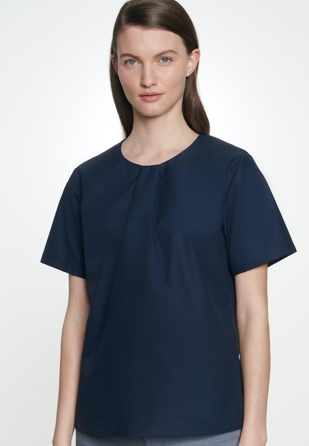 Short sleeve Popeline Shirt Blouse made of 100% Cotton in Dark blue |  Seidensticker Onlineshop