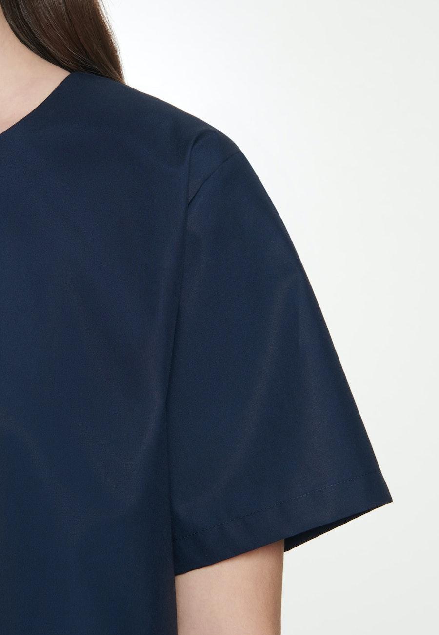 Short sleeve Poplin Shirt Blouse made of 100% Cotton in Dark blue |  Seidensticker Onlineshop