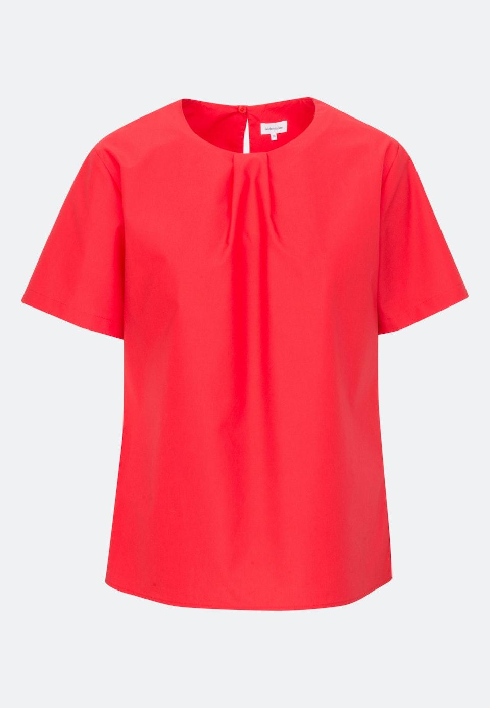 Kurzarm Popeline Shirtbluse aus 100% Baumwolle in Rot |  Seidensticker Onlineshop