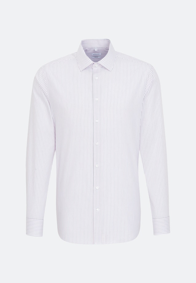 Non-iron Popeline Business Shirt in Shaped with Kent-Collar in Pink |  Seidensticker Onlineshop