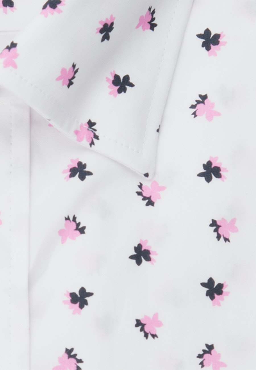 Bügelleichtes Popeline Business Hemd in Regular mit Covered-Button-Down-Kragen in Rosa/Pink    Seidensticker Onlineshop