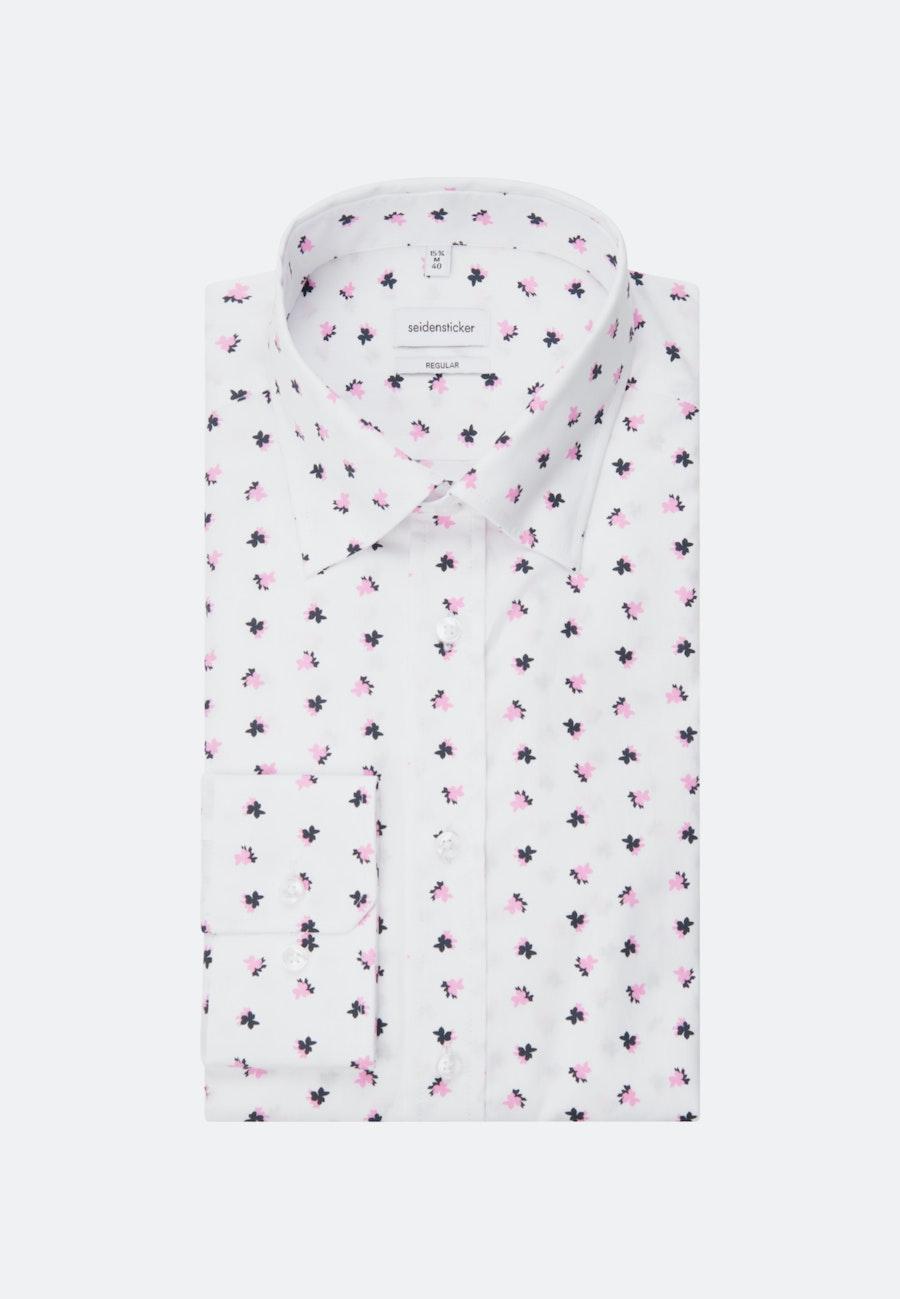 Popeline Business Hemd in Regular mit Covered-Button-Down-Kragen in Rosa/Pink |  Seidensticker Onlineshop