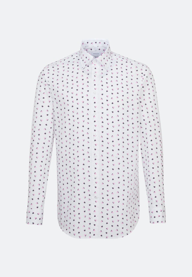 Easy-iron Popeline Business Shirt in Regular with Covered-Button-Down-Collar in Pink |  Seidensticker Onlineshop