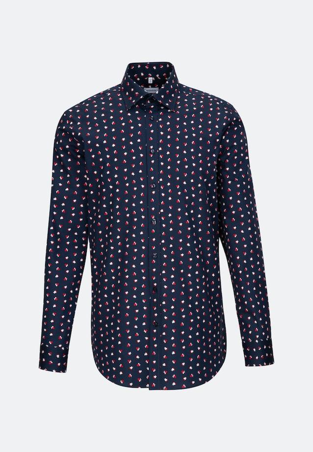 Bügelleichtes Popeline Business Hemd in Regular mit Covered-Button-Down-Kragen in Rot |  Seidensticker Onlineshop