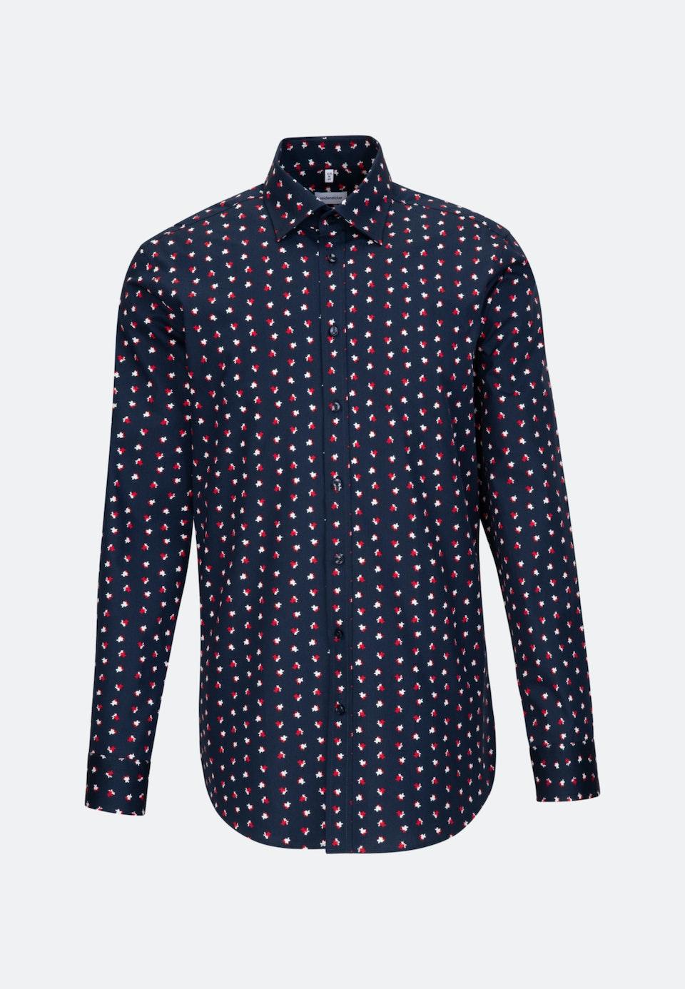 Easy-iron Poplin Business Shirt in Regular with Covered-Button-Down-Collar in Red |  Seidensticker Onlineshop