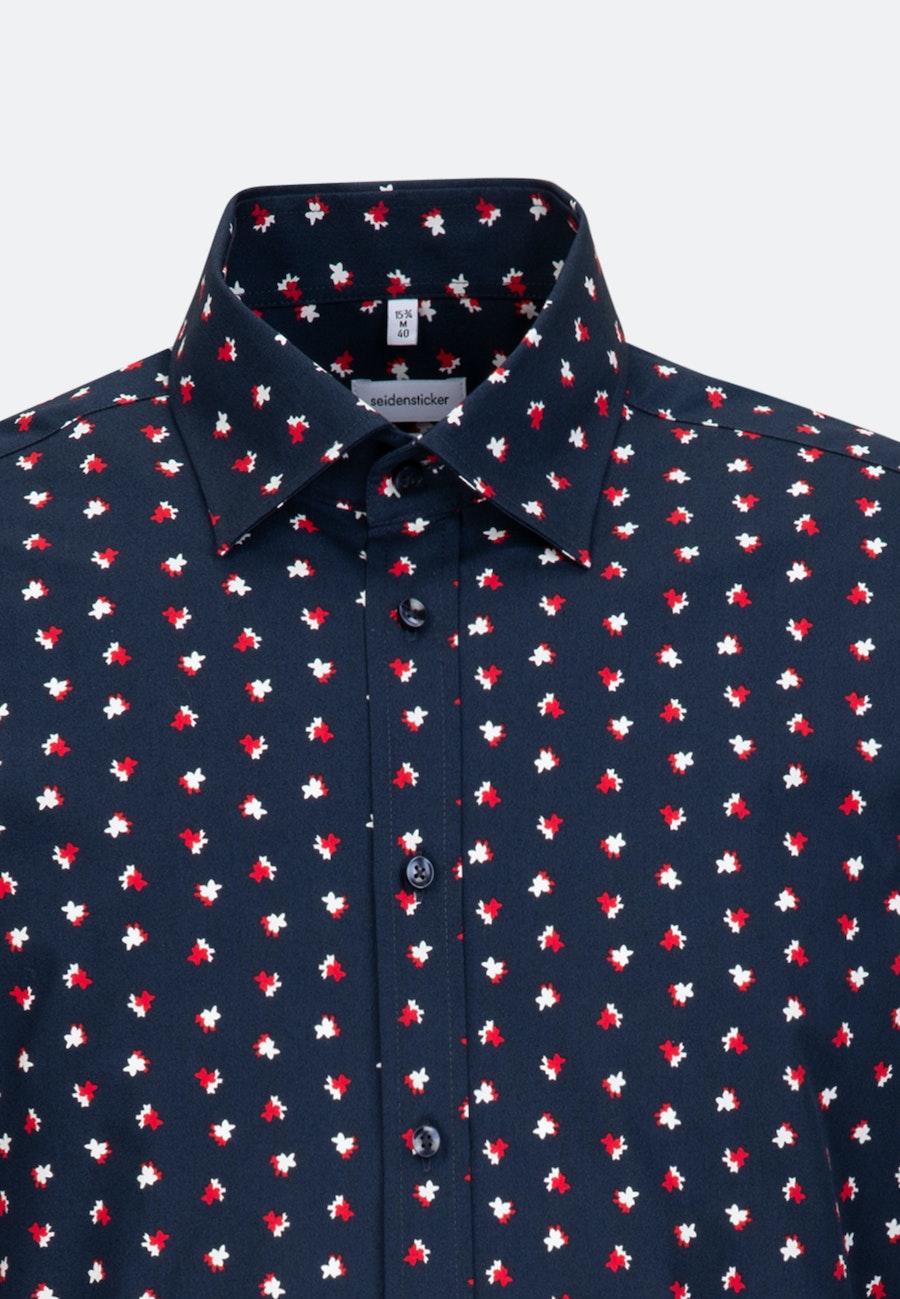 Popeline Business Hemd in Regular mit Covered-Button-Down-Kragen in Rot |  Seidensticker Onlineshop