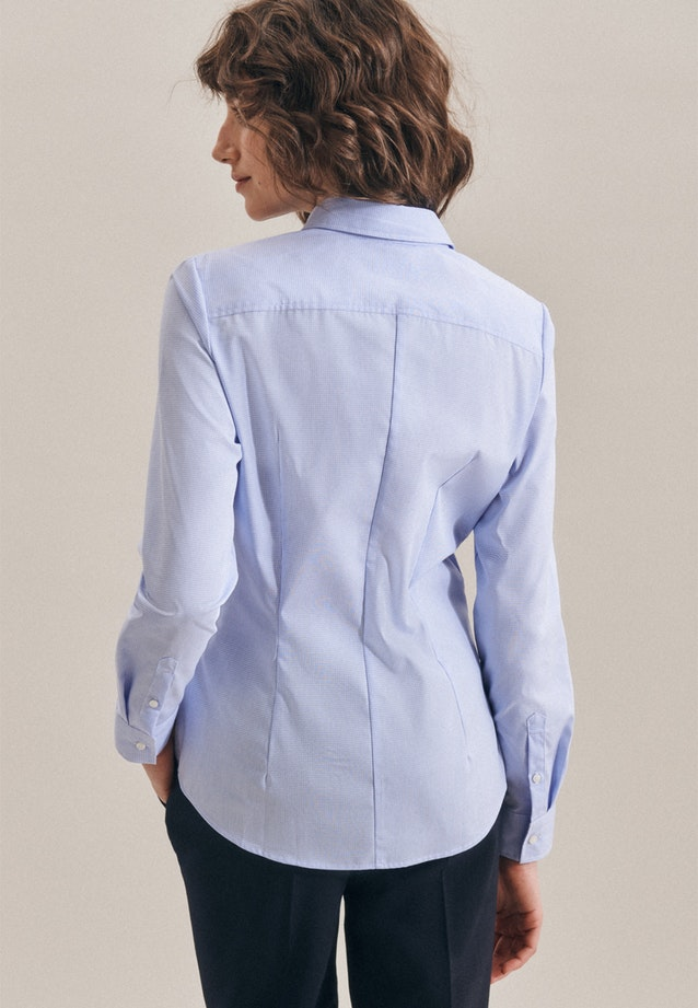 Non-iron Popeline Shirt Blouse made of 100% Cotton in Light blue |  Seidensticker Onlineshop