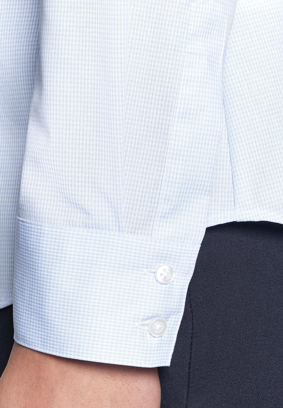 Non-iron Popeline Shirt Blouse made of 100% Cotton in Light blue    Seidensticker Onlineshop