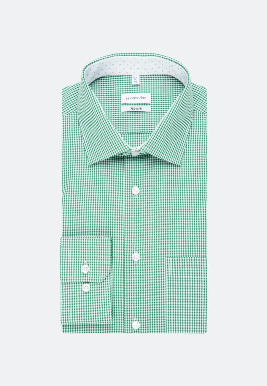 Bügelfreies Popeline Business Hemd in Regular mit Kentkragen in Grün |  Seidensticker Onlineshop