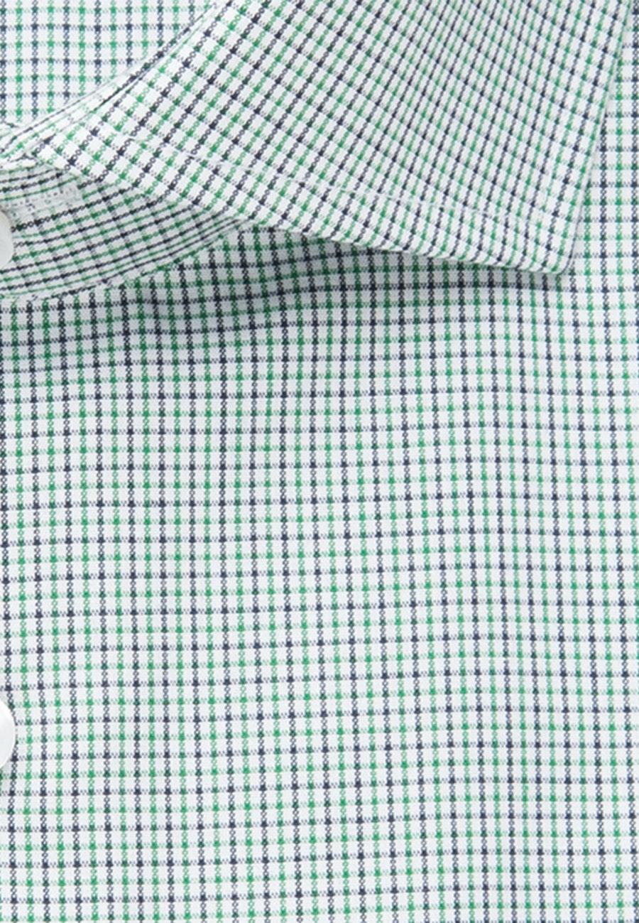 Bügelfreies Popeline Business Hemd in Shaped mit Kentkragen in Grün |  Seidensticker Onlineshop