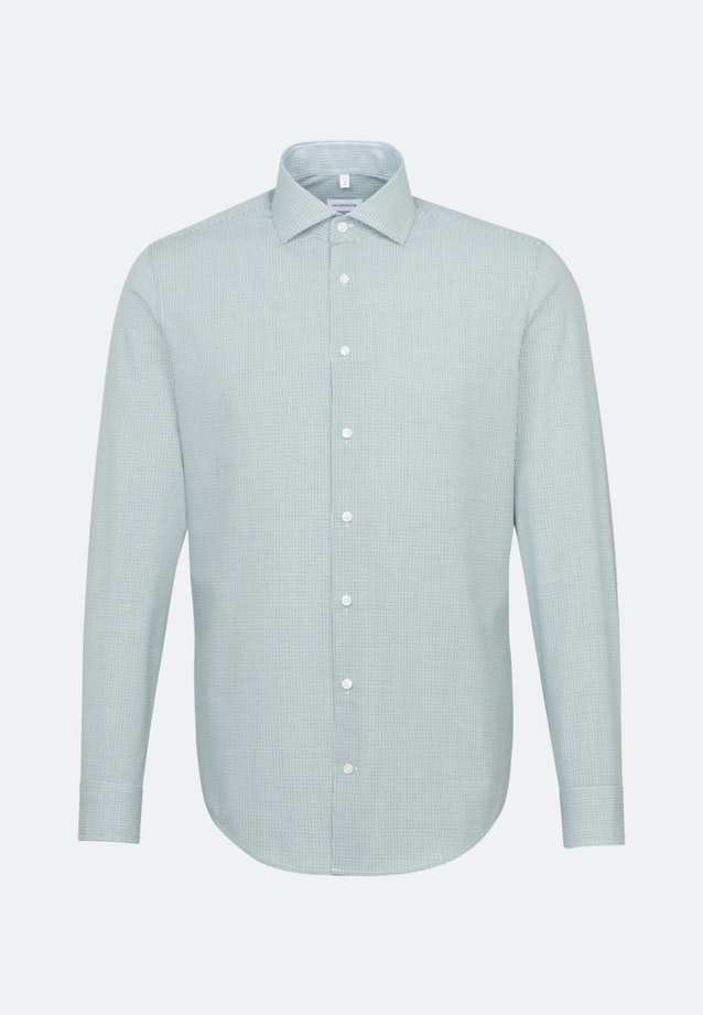 Non-iron Popeline Business Shirt in Shaped with Kent-Collar in Green |  Seidensticker Onlineshop