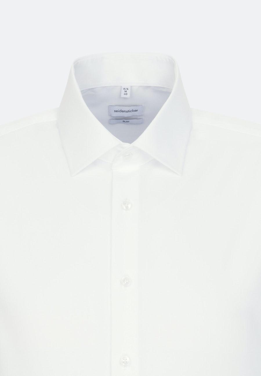 Non-iron Popeline Business Shirt in Slim with Kent-Collar in Brown |  Seidensticker Onlineshop