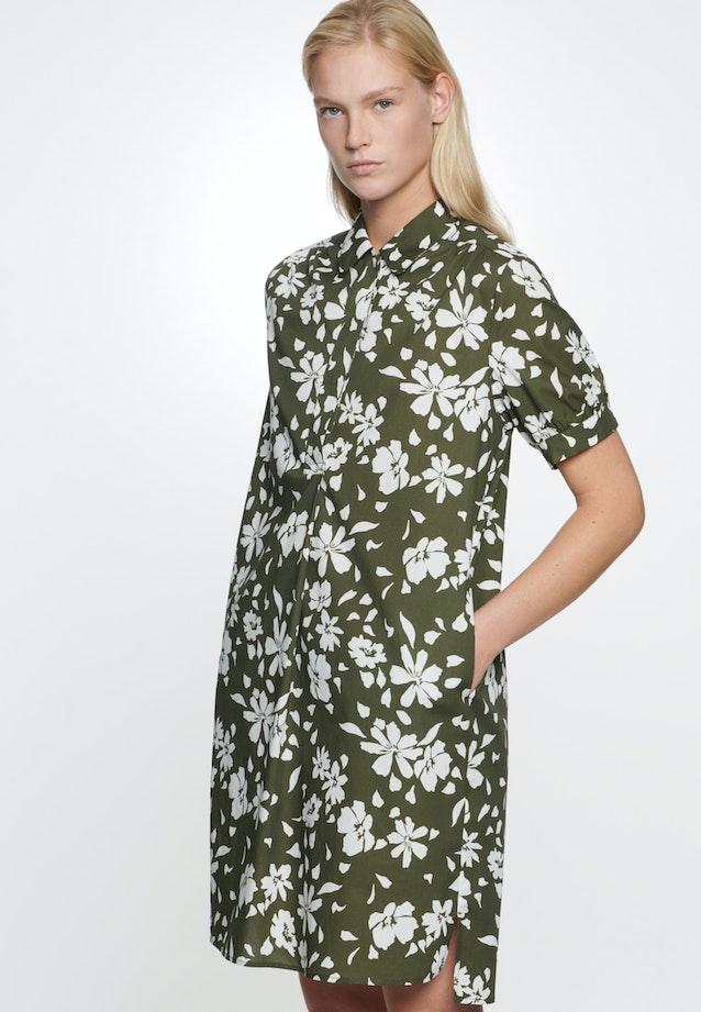 Popeline Midi Kleid aus 100% Baumwolle in Grün    Seidensticker Onlineshop