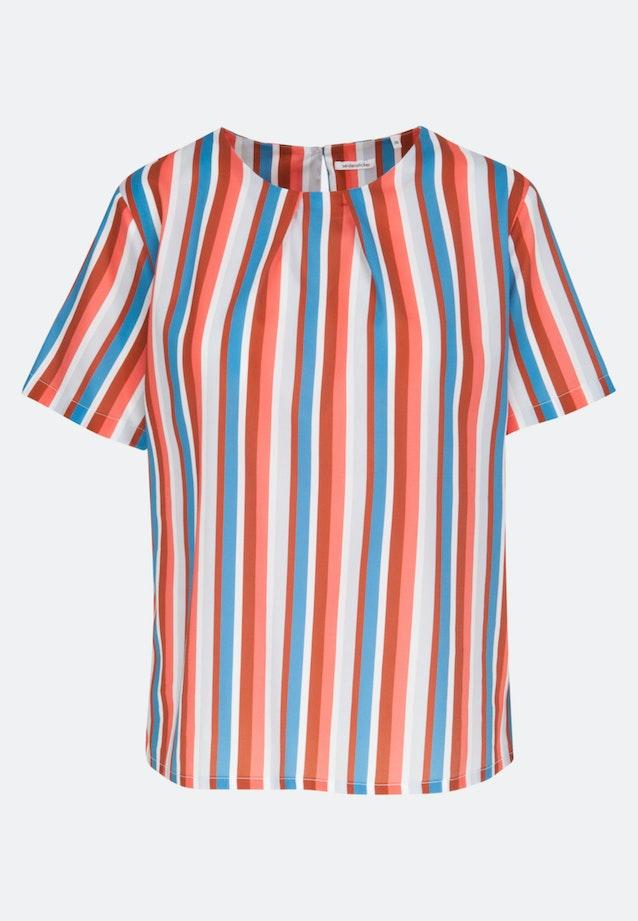 Kurzarm Satin Shirtbluse aus 100% Baumwolle in Rosa/Pink |  Seidensticker Onlineshop