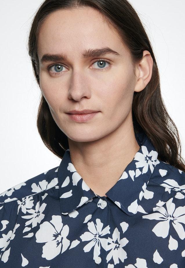 Popeline Hemdbluse aus 100% Baumwolle in Dunkelblau |  Seidensticker Onlineshop