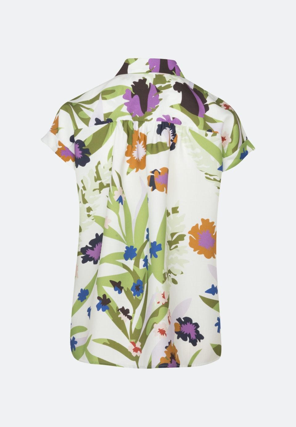 Kurzarm Twill Hemdbluse aus Tencelmischung in Ecru |  Seidensticker Onlineshop