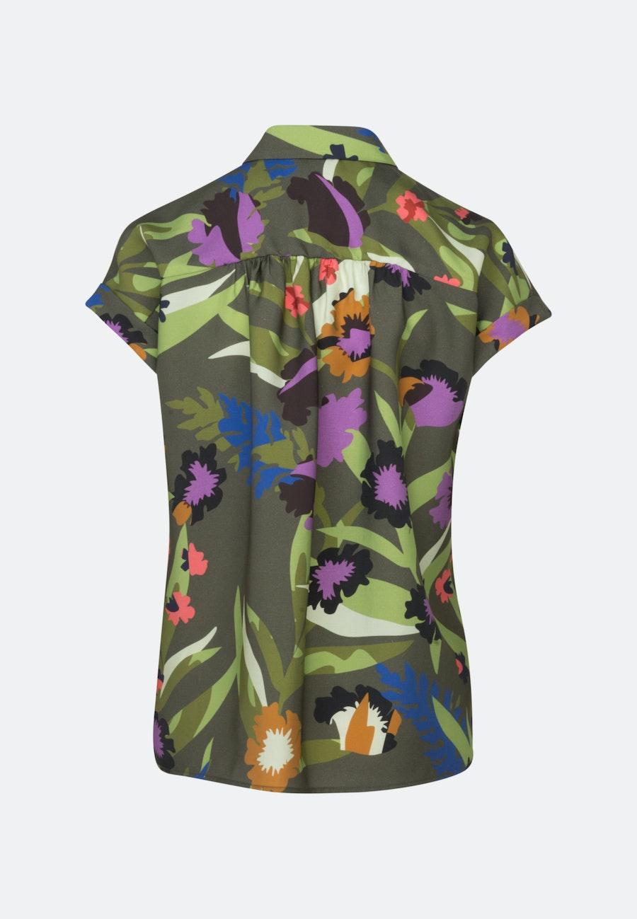 Kurzarm Twill Hemdbluse aus Tencelmischung in Grün |  Seidensticker Onlineshop