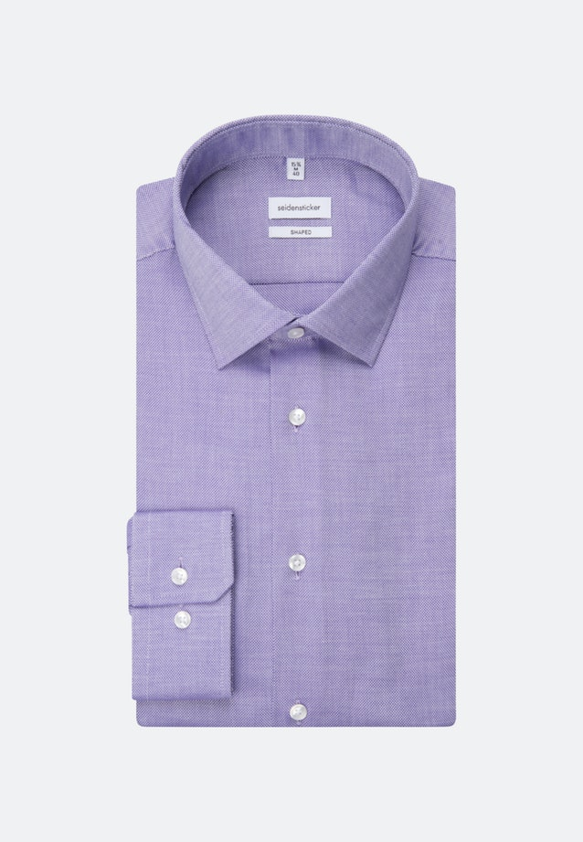 Easy-iron Struktur Business Shirt in Shaped with Kent-Collar and extra long sleeve in Purple    Seidensticker Onlineshop