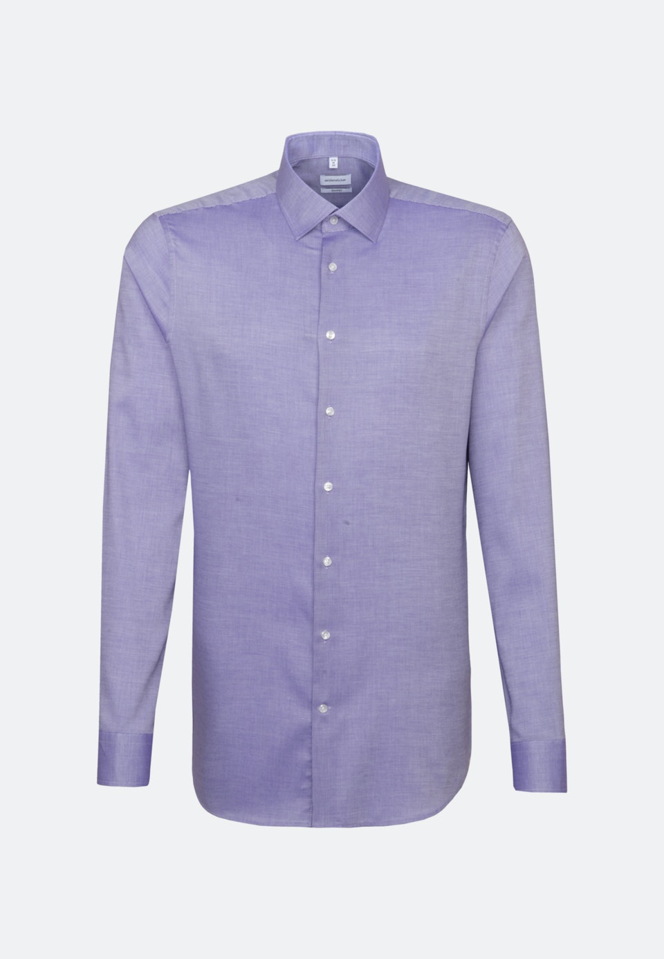 Easy-iron Struktur Business Shirt in Shaped with Kent-Collar and extra long sleeve in Purple |  Seidensticker Onlineshop