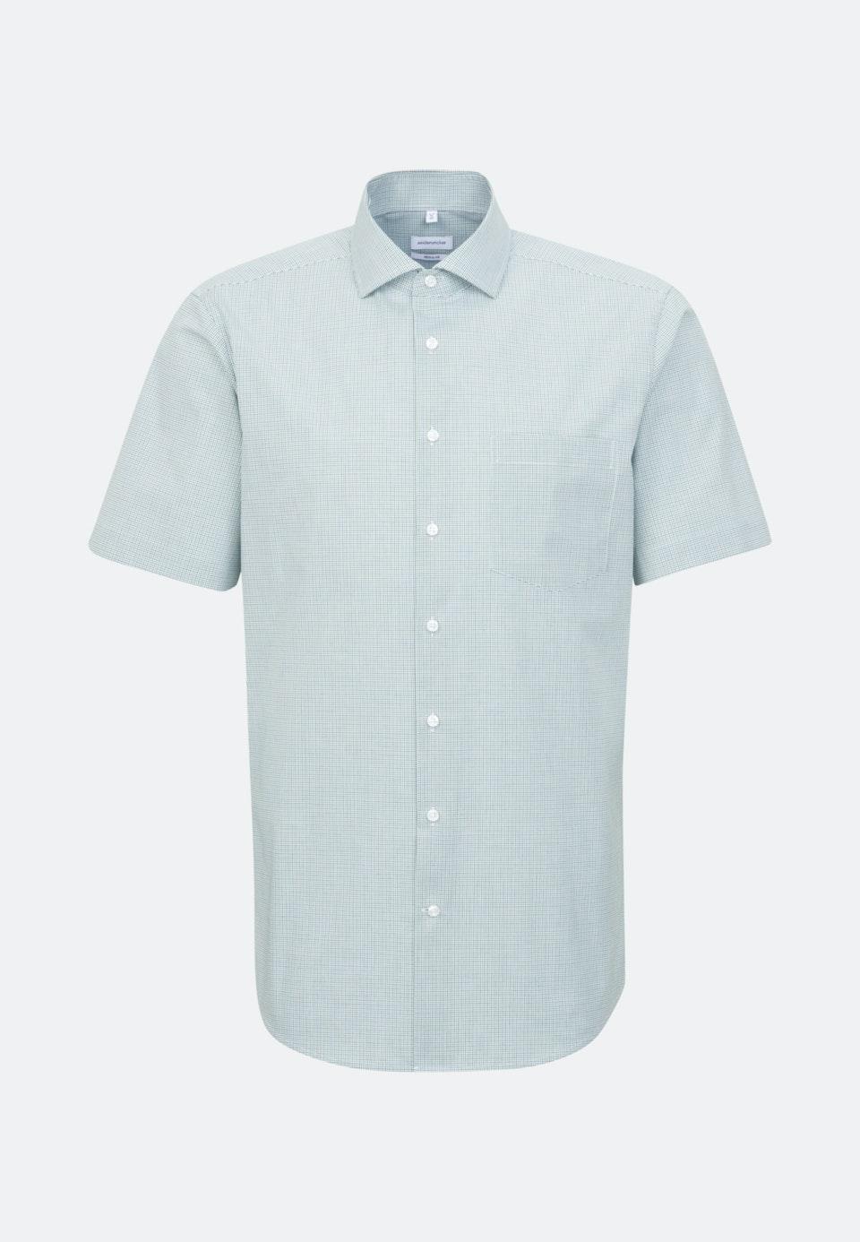 Non-iron Poplin Short sleeve Business Shirt in Regular with Kent-Collar in Green |  Seidensticker Onlineshop