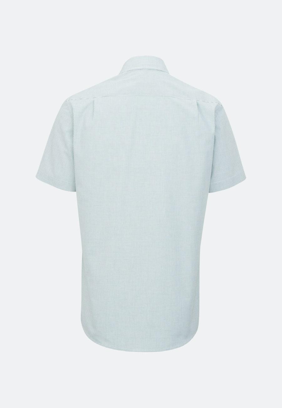 Bügelfreies Popeline Kurzarm Business Hemd in Regular mit Kentkragen in Grün    Seidensticker Onlineshop