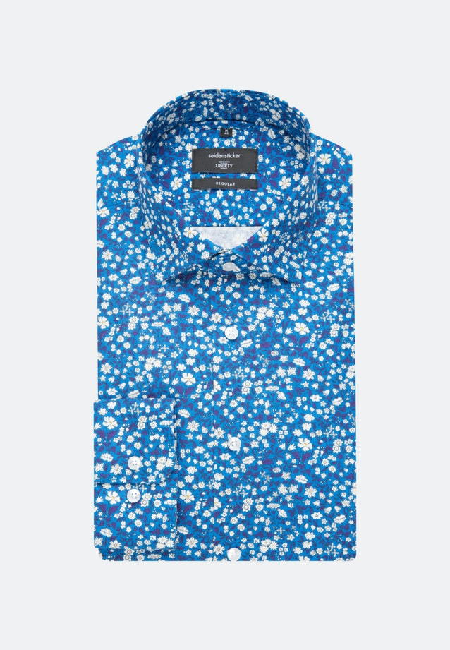 Easy-iron Popeline Business Shirt in Regular with Kent-Collar in Turquoise |  Seidensticker Onlineshop