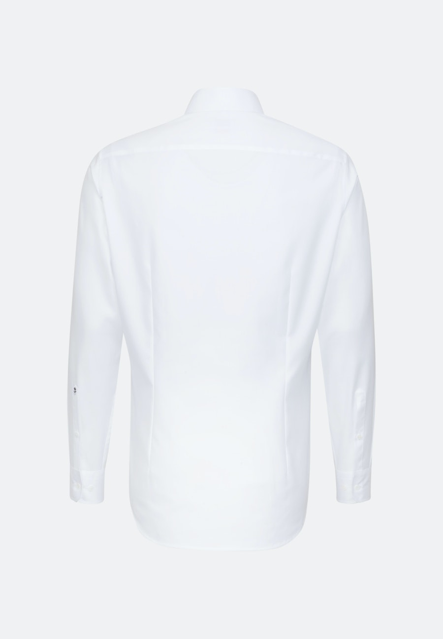 Easy-iron Satin Business Shirt in Shaped with Kent-Collar in White |  Seidensticker Onlineshop