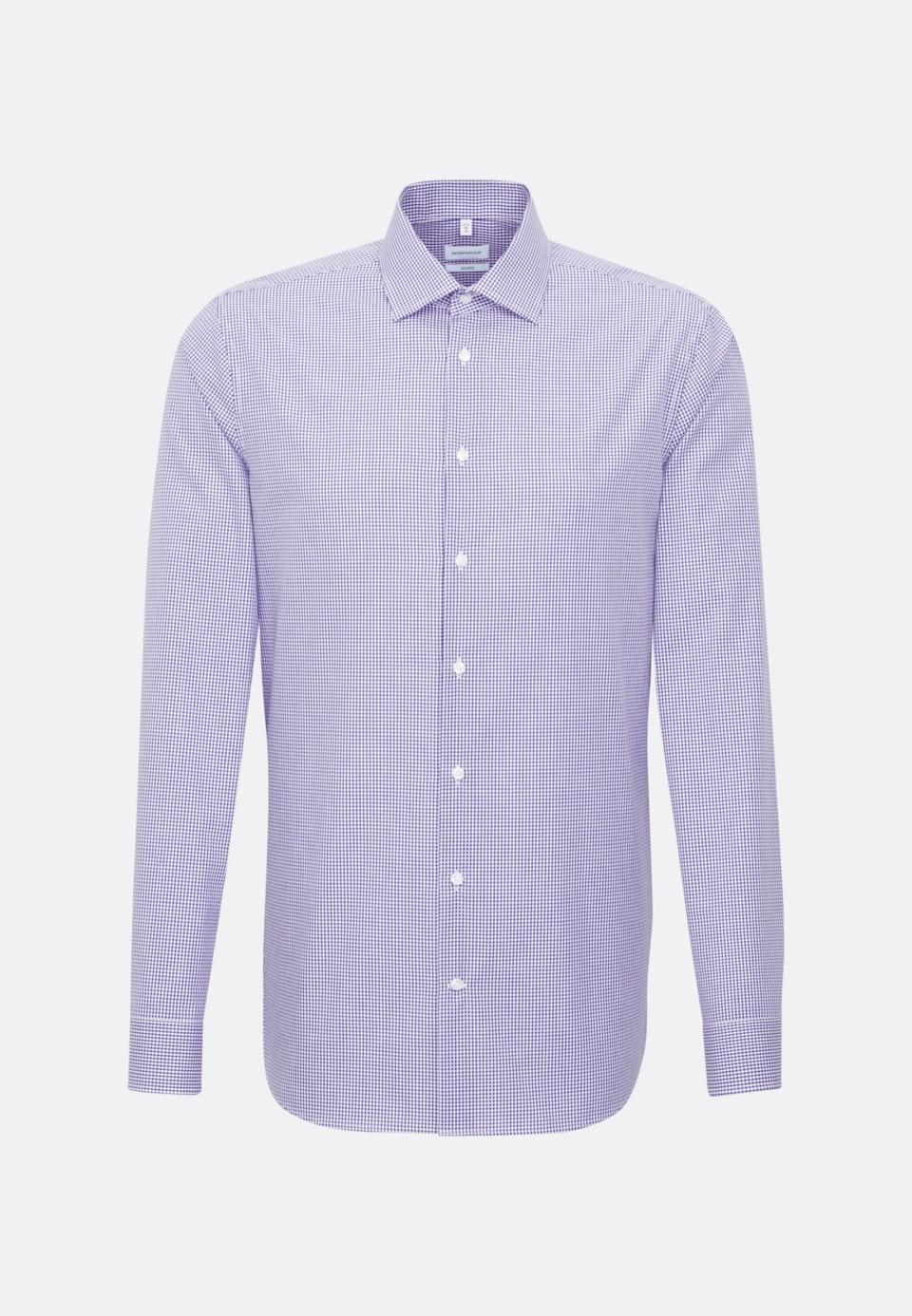 Bügelfreies Popeline Business Hemd in Shaped mit Kentkragen und extra langem Arm in Lila |  Seidensticker Onlineshop