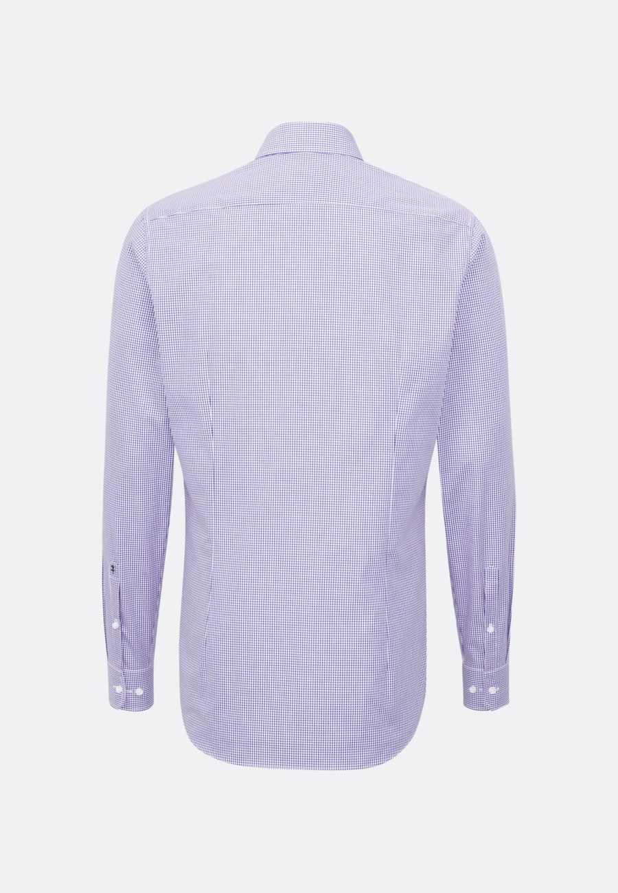 Non-iron Poplin Business Shirt in Shaped with Kent-Collar and extra long sleeve in Purple |  Seidensticker Onlineshop