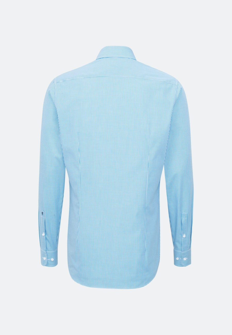 Non-iron Popeline Business Shirt in Shaped with Kent-Collar and extra long sleeve in Turquoise |  Seidensticker Onlineshop