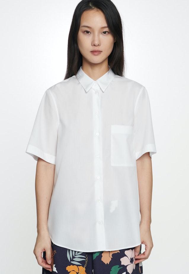 Kurzarm Popeline Hemdbluse aus 100% Baumwolle in Weiß    Seidensticker Onlineshop