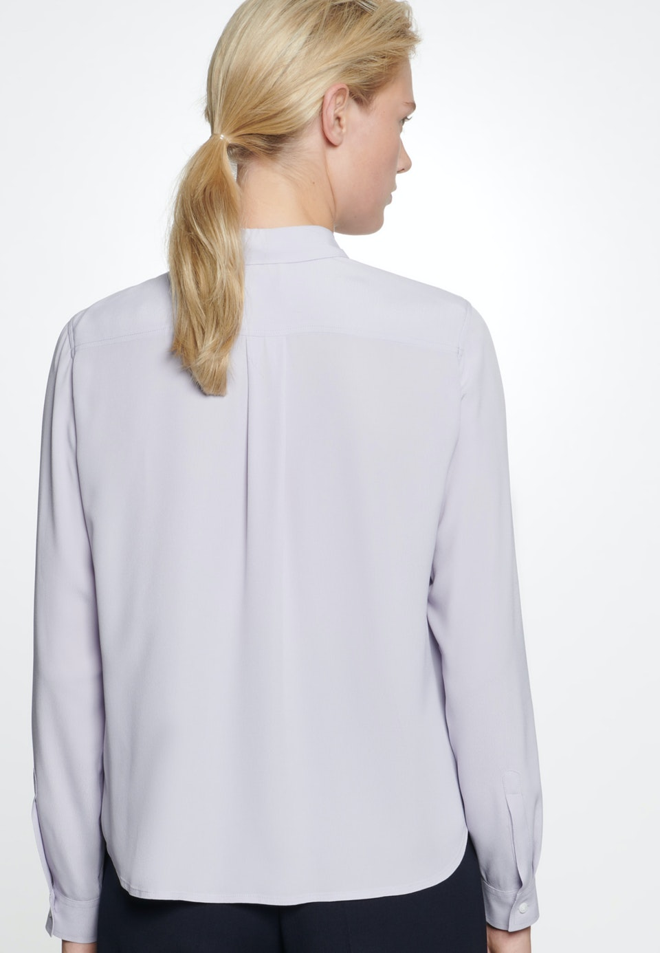 Poplin Shirt Blouse made of 100% Viscose in Purple |  Seidensticker Onlineshop