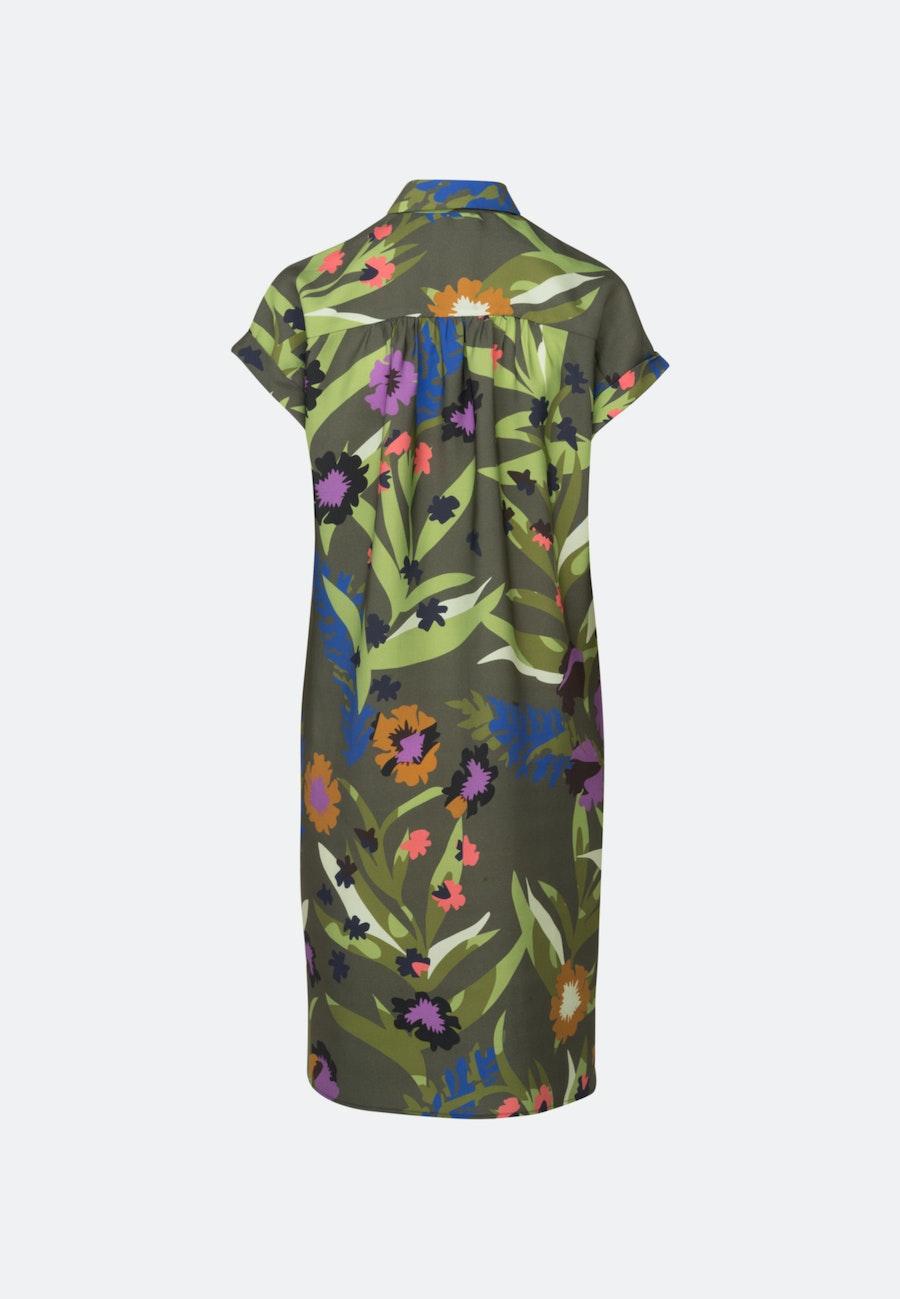 Twill Midi Dress made of tencel blend in Green |  Seidensticker Onlineshop