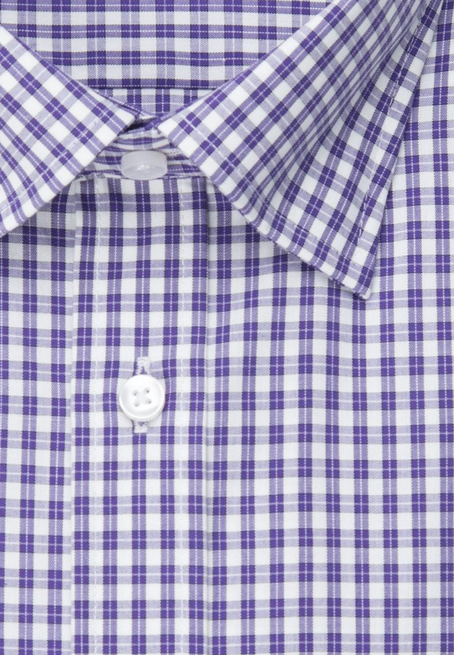 Bügelfreies Popeline Business Hemd in Regular mit Covered-Button-Down-Kragen in Lila |  Seidensticker Onlineshop