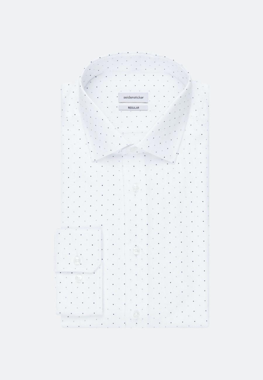 Easy-iron Struktur Business Shirt in Regular with Kent-Collar in White |  Seidensticker Onlineshop