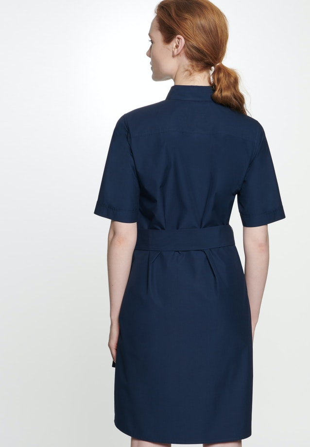 Popeline Midi Kleid aus 100% Baumwolle in Dunkelblau |  Seidensticker Onlineshop