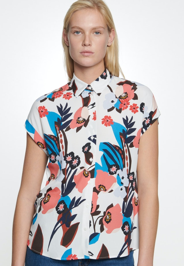 Sleeveless Krepp Shirt Blouse made of 100% Viscose in Ecru |  Seidensticker Onlineshop