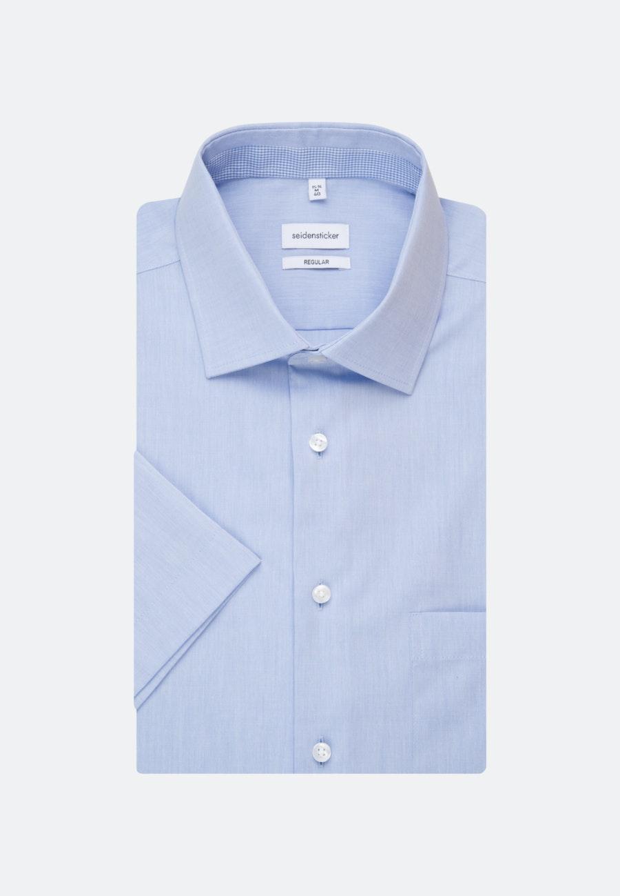 Bügelfreies Chambray Kurzarm Business Hemd in Regular mit Kentkragen in Hellblau    Seidensticker Onlineshop