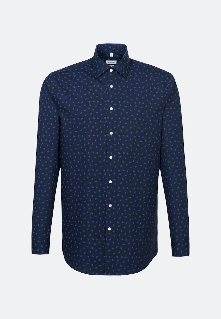 Easy-iron Popeline Business Shirt in Regular with Kent-Collar in Purple |  Seidensticker Onlineshop