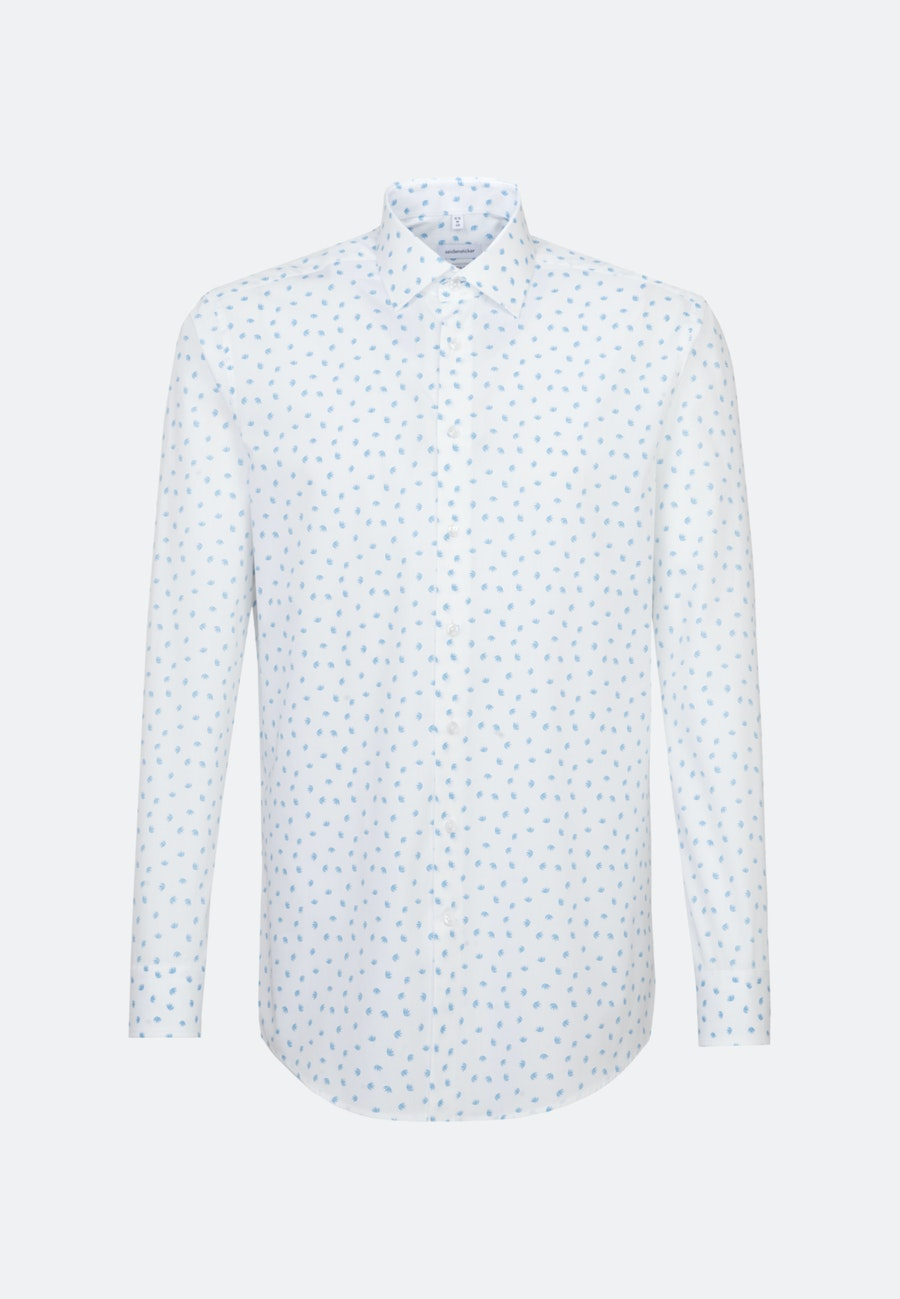 Easy-iron Poplin Business Shirt in Regular with Kent-Collar in Turquoise |  Seidensticker Onlineshop