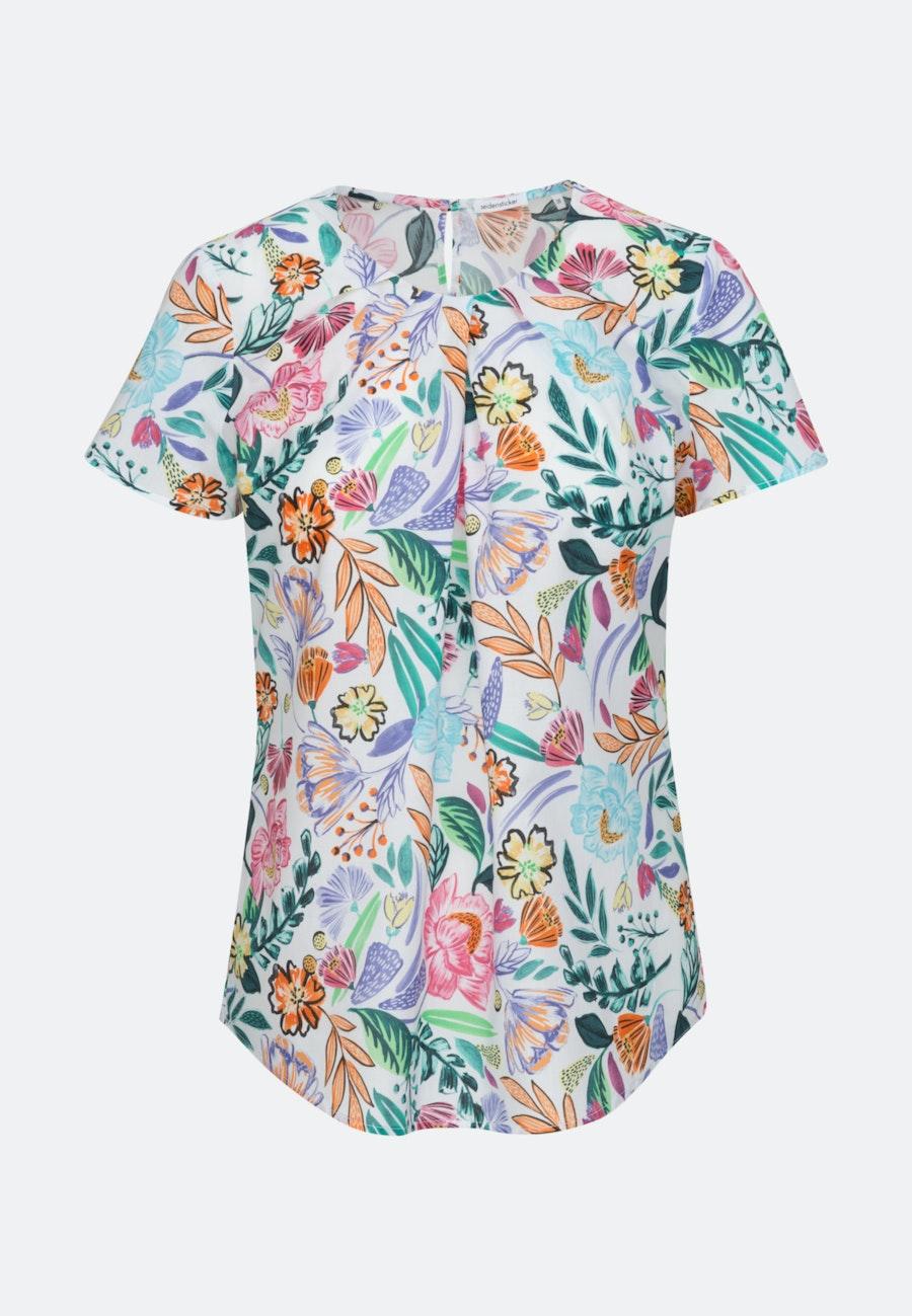 Kurzarm Voile Shirtbluse aus 100% Baumwolle in Ecru |  Seidensticker Onlineshop