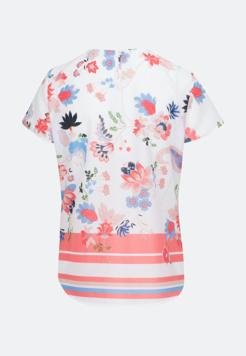 Short sleeve Popeline Shirt Blouse made of 100% Cotton in Ecru |  Seidensticker Onlineshop
