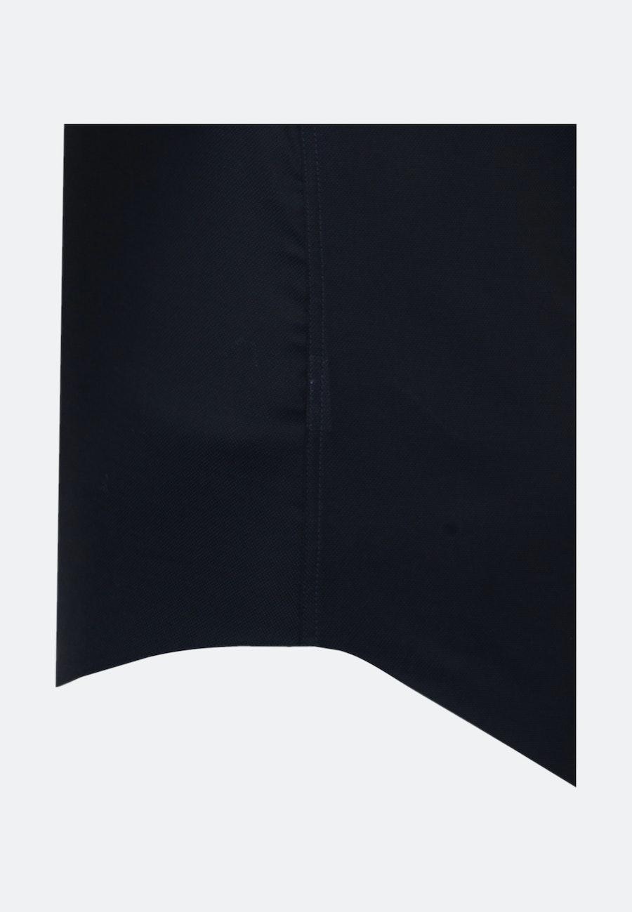 Bügelfreies Struktur Kurzarm Business Hemd in Shaped mit Kentkragen in Dunkelblau    Seidensticker Onlineshop